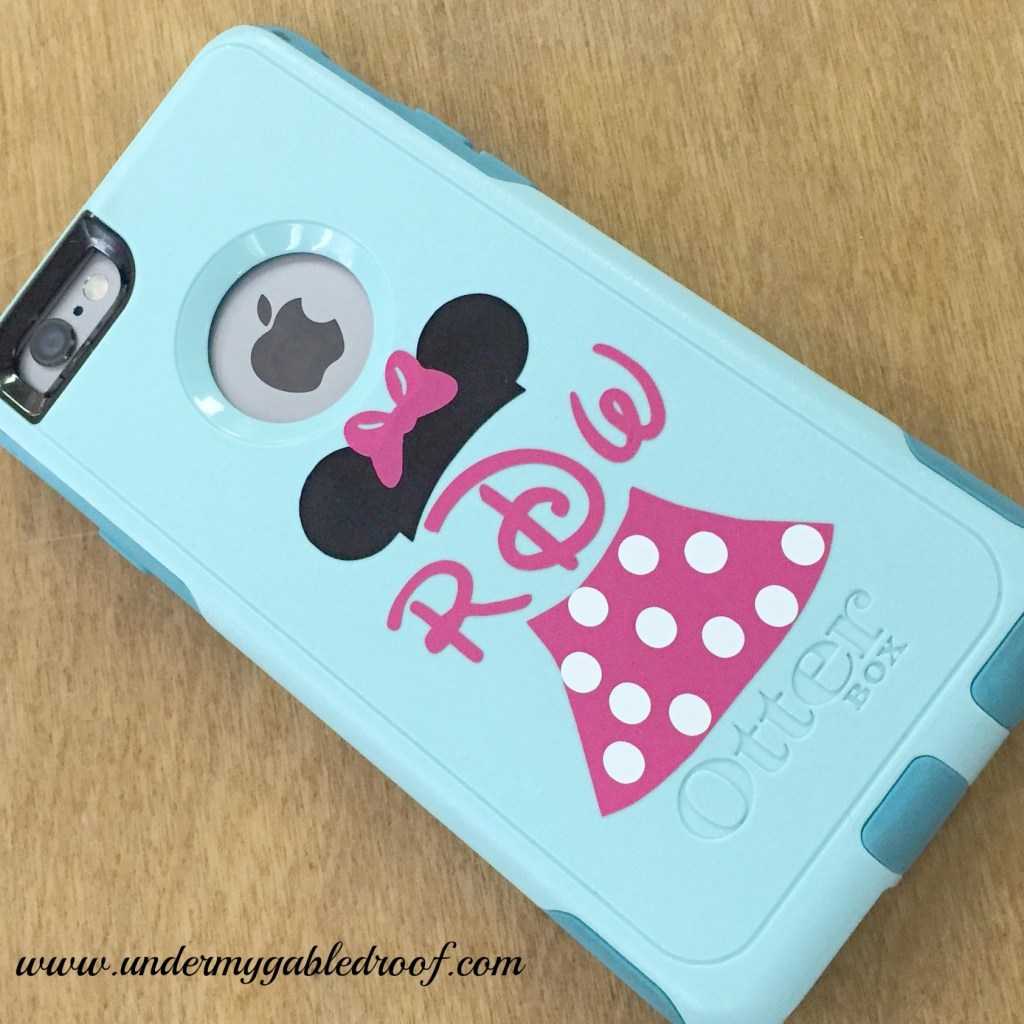 Vinyl Minnie Mouse Monograms with My Silhouette