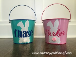 Easy Easter Buckets with the Silhouette Cameo