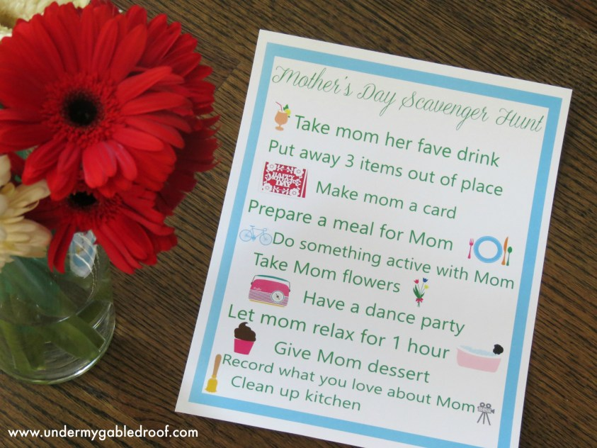 Come check out this great Mother's Day scavenger hunt and ensure you have a fantastic Mother's Day spent with your family which is the best gift there is.
