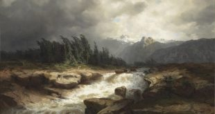 Mountain Torrent before a Storm (The Aere river, Haslital), 1850 - Oil on Canvas 98.1 x 137.8 cm
