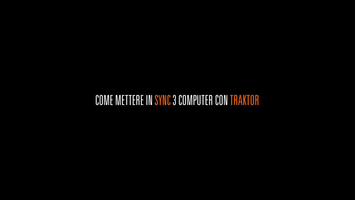 #1 videotutorial Traktor: Sync 3 computer