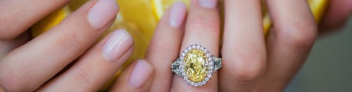 Medium Of Yellow Diamond Rings
