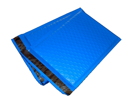 100 4x8 Blue Poly Bubble Mailer Envelope Shipping Wrap Paper Mailing