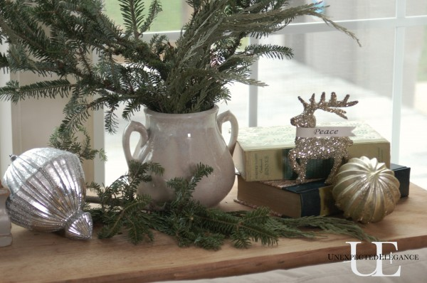 Table decor for Christmas at Unexpected Elegance