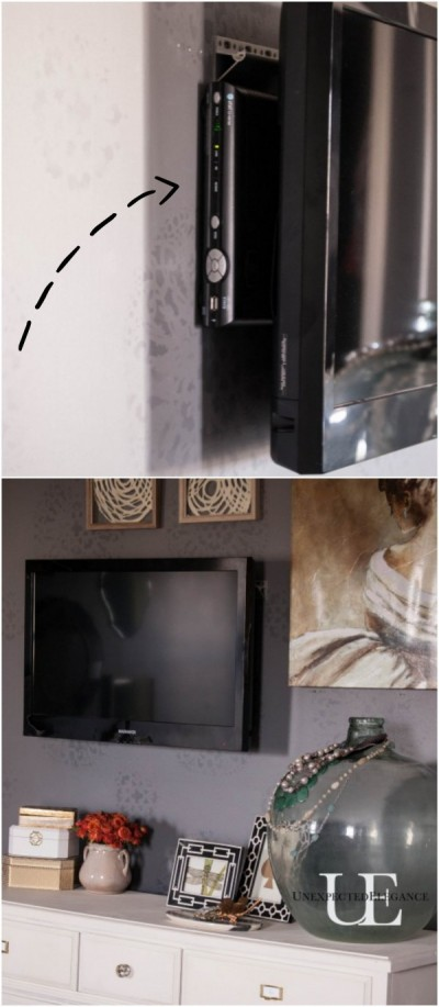 How to mount a tv and hide the cords - How to hide cords on wall ...