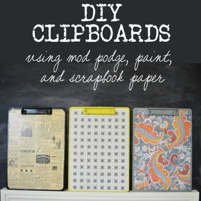 DIY Clipboard and Monthly Verse Printable