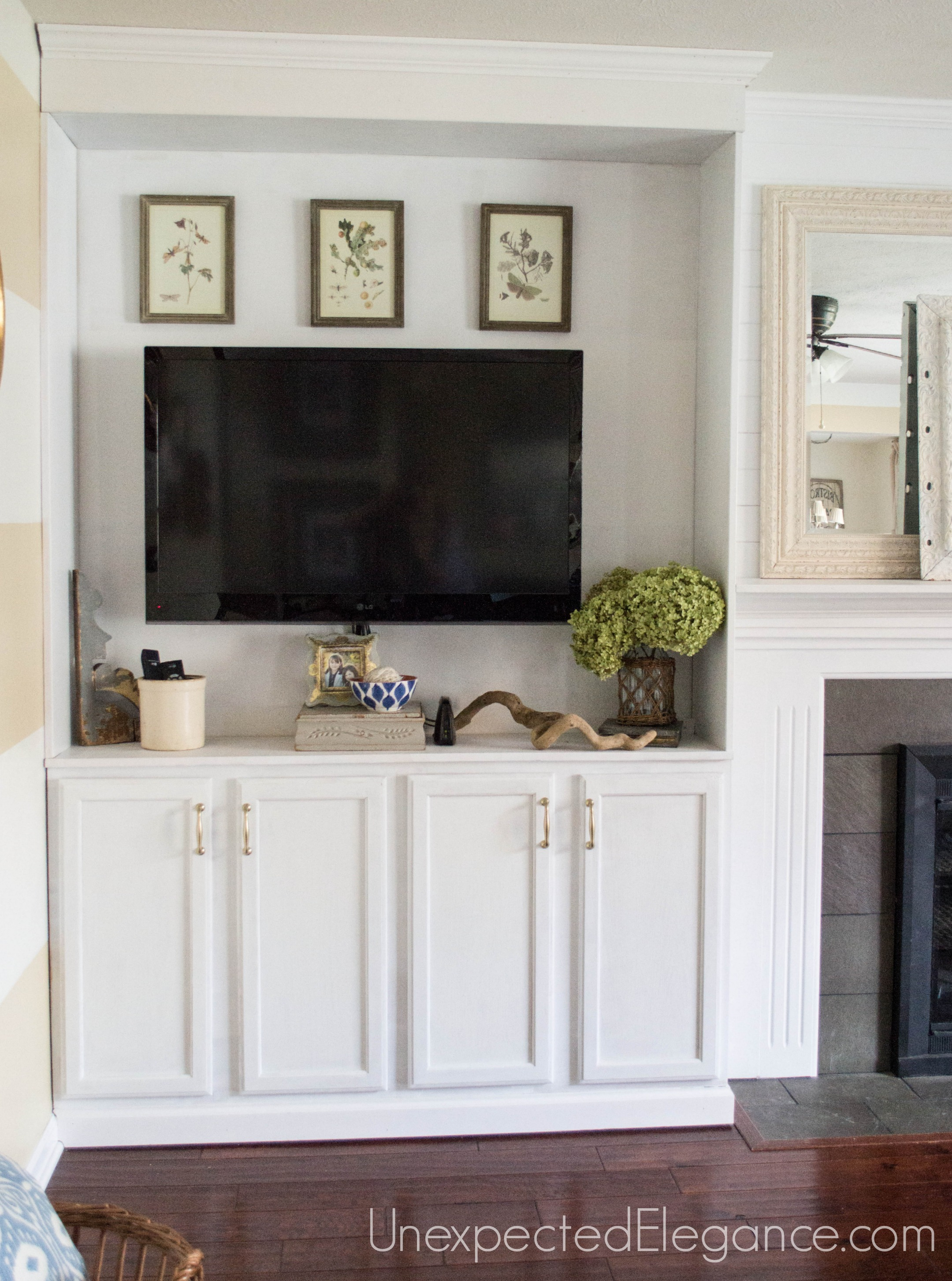 Built In Cabinets Beside Fireplace My Big Finish Diy Fireplace Built Ins Unexpected Elegance