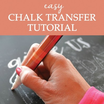 Chalk Transfer Tutorial {Video Series}