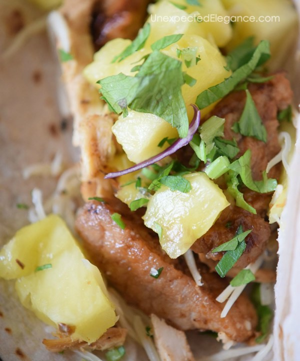 Pineapple Pork & Chicken Tacos-3