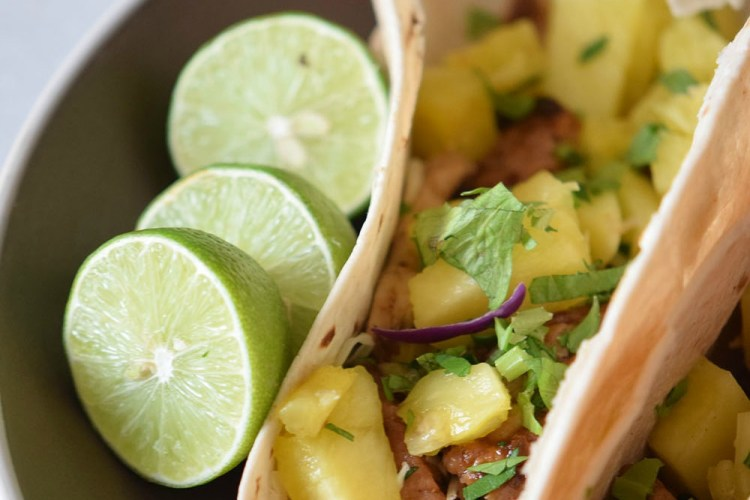 Pineapple Pork & Chicken Tacos