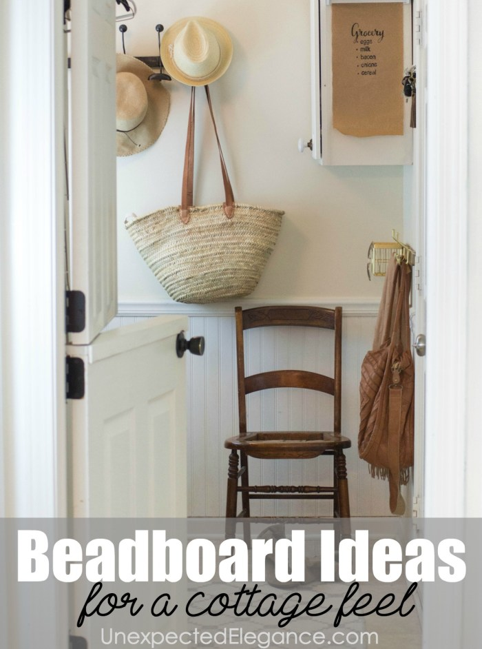 Get some great beadboard ideas for your home, to give it a cottage feel. With these 8 different ways to use it, you are sure to make your home unique.