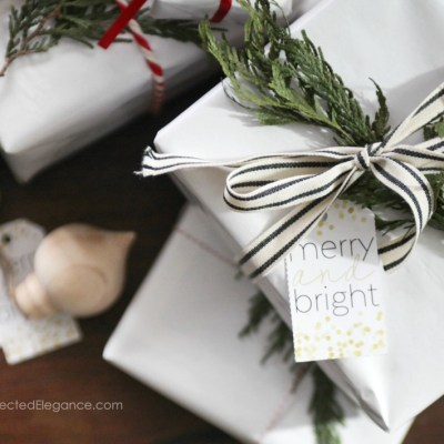 Merry & Bright Christmas Gift Tags