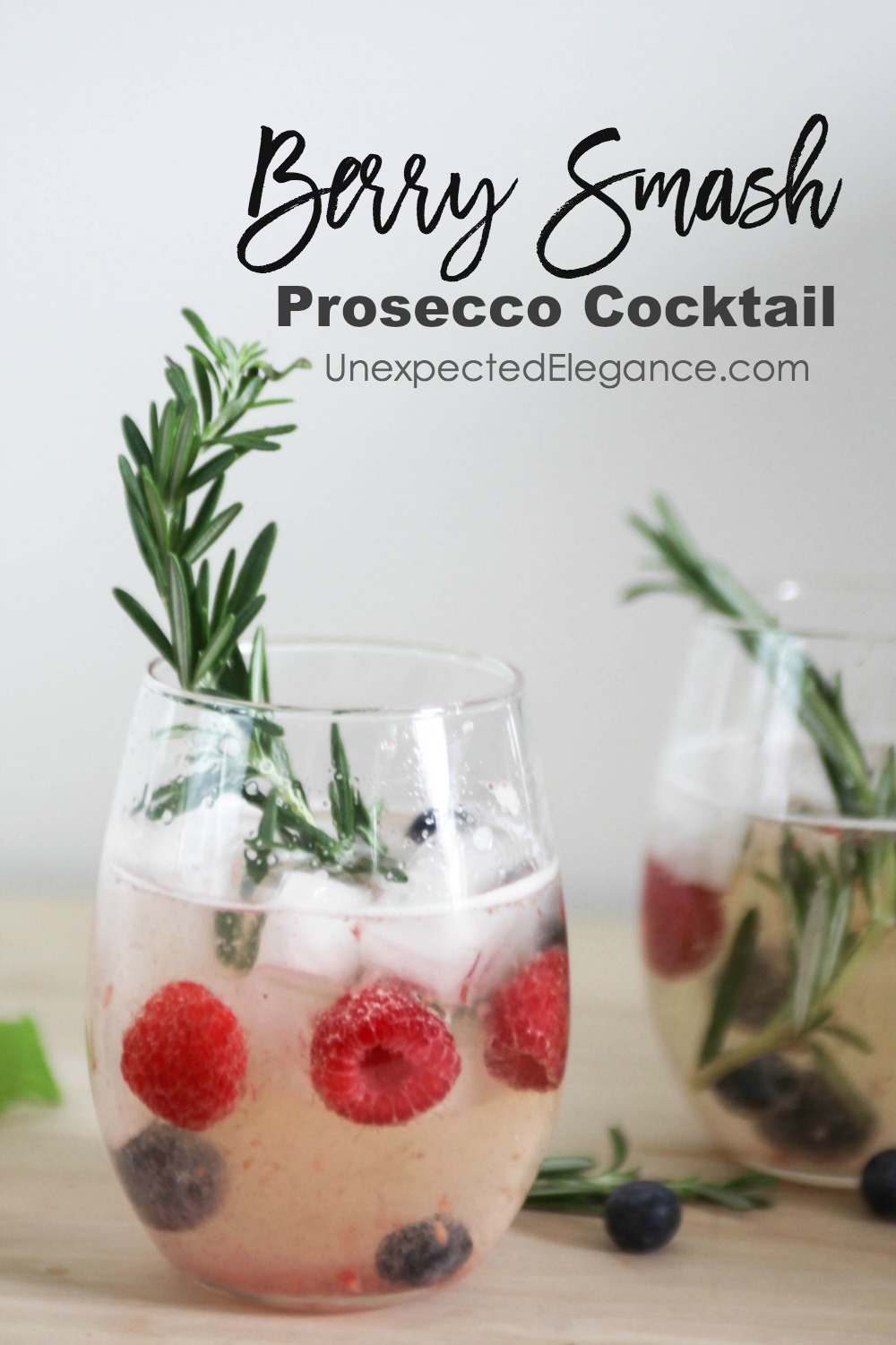 This Berry Smash Prosecco cocktail is refreshing, light and delicious!! It's perfect for a brunch, dinner, or no occasion at all.