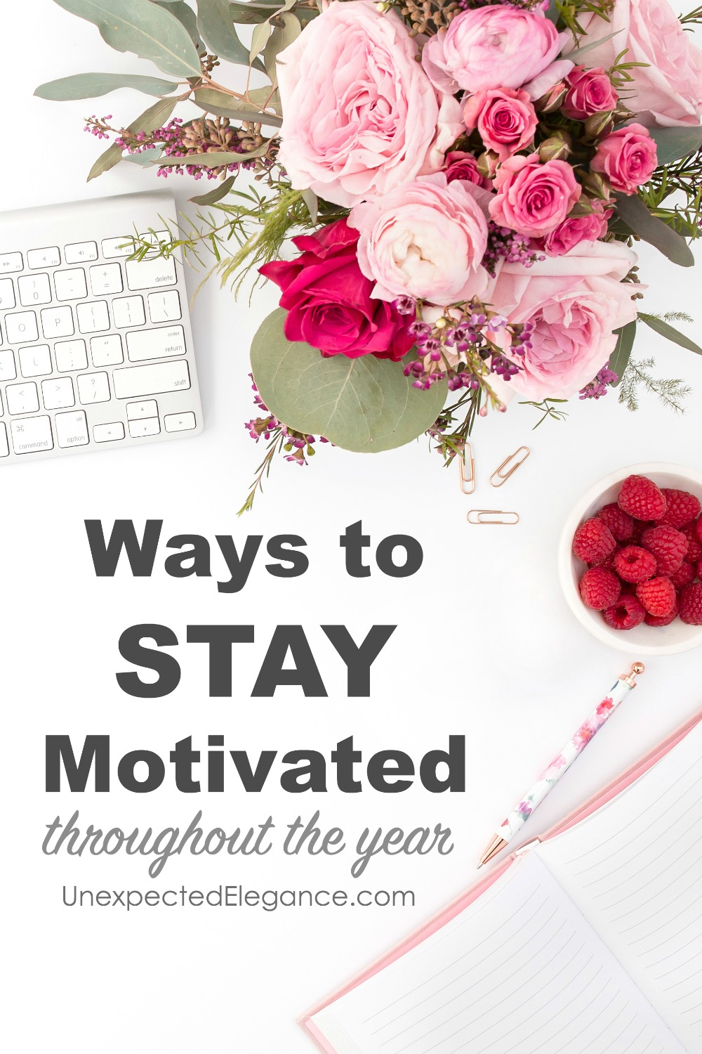 Do you struggle to stay motivated and accomplish your goals?  There are a few things you can do to keep yourself on track this year...it's never too late to start over!