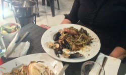A photo of seafood pasta - Mgarr, Malta