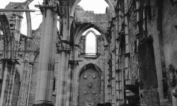 A photo of the remains of the Church of Our Lady of Mount Carmel - Lisbon, Portugal