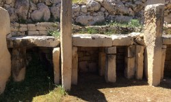 A photo of one of the altars in Ggantija - Xaghra, Gozo