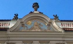 A photo of the Golden Hive relief - Prague, Czech Republic