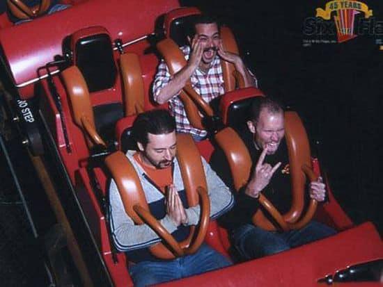 praying man on roller coaster