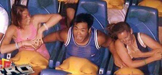 Guy Grabbing Boobs on roller coaster