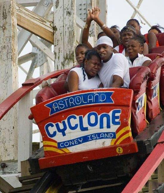 Jay Z on roller coaster