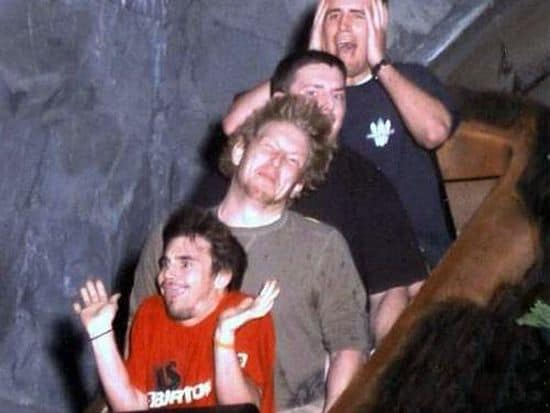 Douche bags on roller coaster