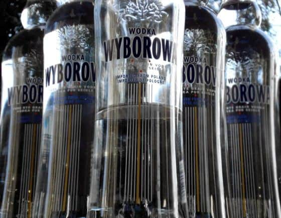 Bottles of Wyborowa Vodka for making Skittle Vodka