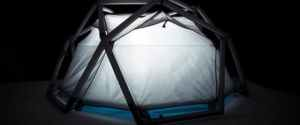 Inflatable Geodesic Cave Tent by Heimplanet