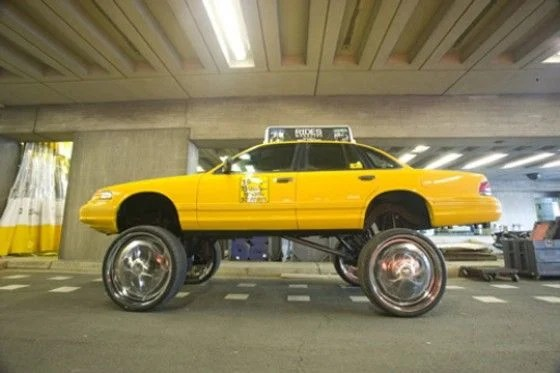 Yellow Donk Car
