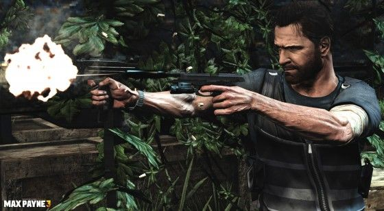 Max Payne shooting enemies