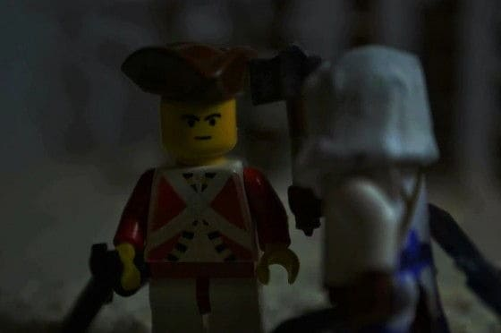 Lego Connor killing Redcoat