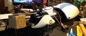 """Working"" Portal Gravity Gun – Floating Companion Cube!"