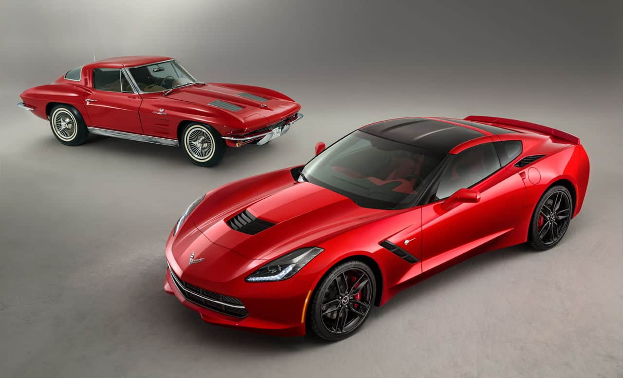 original stingray with c7 corvette stingray