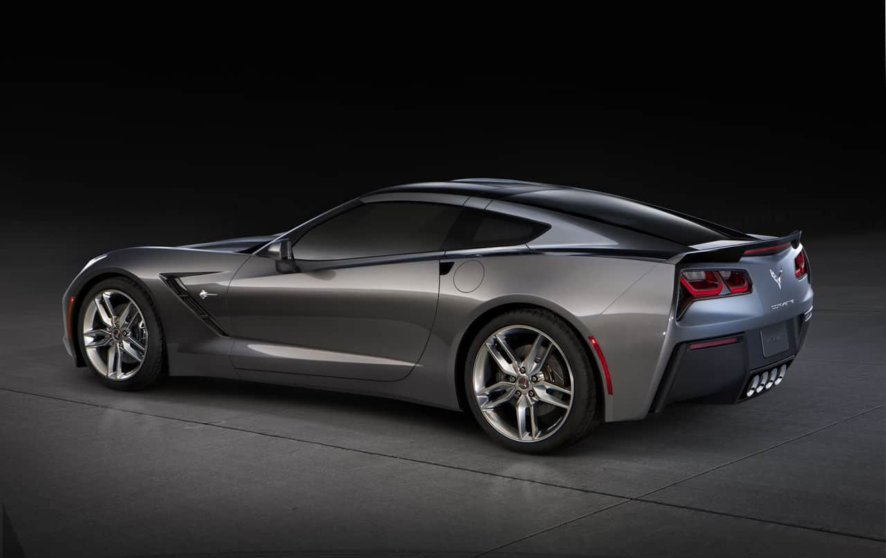 Grey 2014 C7 Corvette