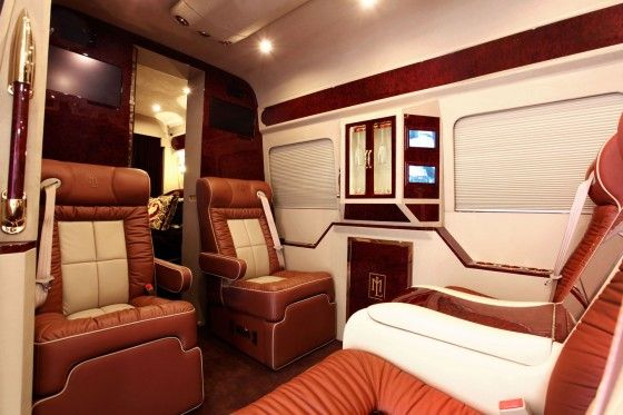Lexani tuned Mercedes-Benz Sprinter Van interior