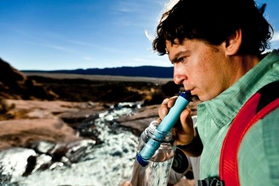 drinking water out of lifestraw filter