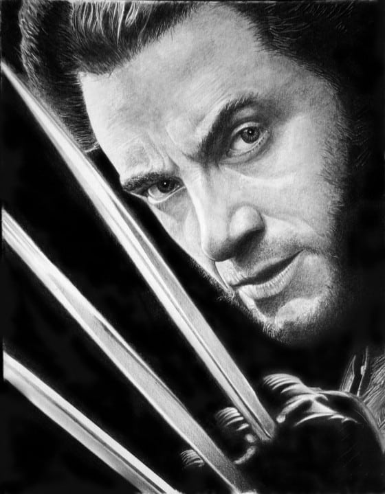 Realistic Pencil Art of Wolverine