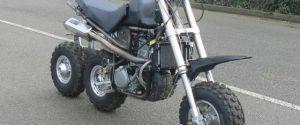 Three-Wheel In-Line Motorcycle by DDS