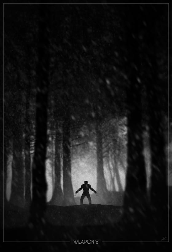 wolverine noir poster