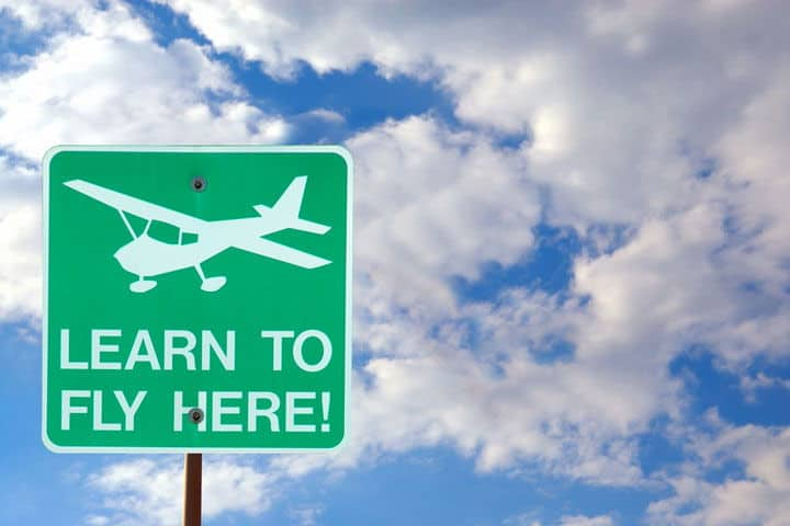 flying lesson sign