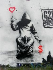 banksy love and money