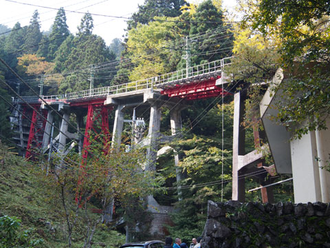 Comienzo de la vía del funicular