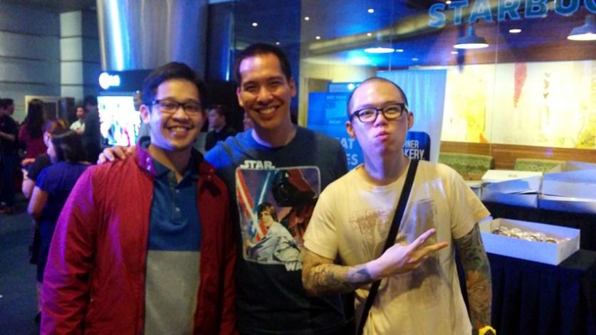 Spotted: Fellow Star Wars Fans Jiggy Aquino Cruz (Marvel Zombies Philippines), Dino Araullo, and Chris Cantada (Chris Cantada Force)