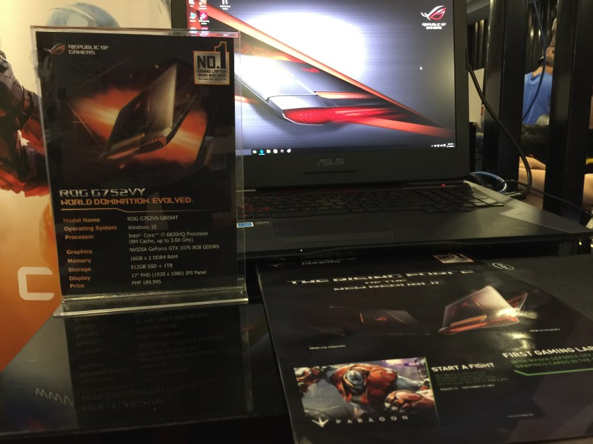 ROG GL752 VY VR ready laptop, ridiculous power!