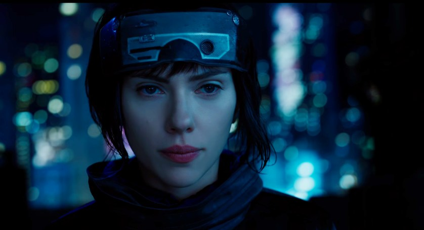 Scarlett Johansson as 'The Major', Ghost in the Shell (Source: Paramount Pictures)