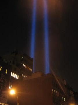 September 11 Memorial Lights
