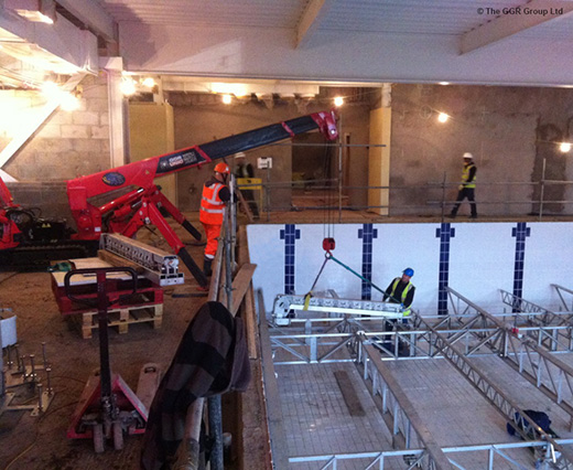 Unic Crane Hits The Gym For Swimming Pool Lift Unic