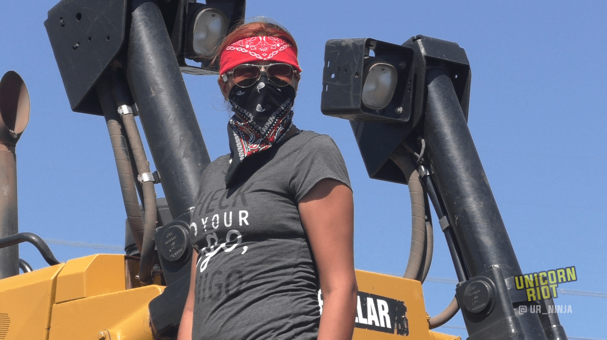 Land Defenders Storm Construction Site to Protect Water