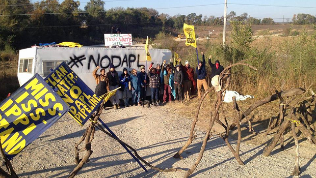 Mississippi Stand Blockades Iowa DAPL Drill Waste Site, Drilling Stops