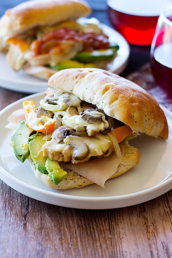 Spice up your after school game with this delicious loaded grilled chicken gourmet sandwich made with two types of meat and different vegetables in no time!